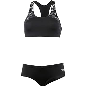 643d5316030a5d SPEEDO Damen Bikini Set schwarz 38  Amazon.de  Sport   Freizeit