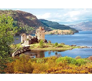 Unbekannt 2000 Teile Puzzle Eilean Donan Castle Schottland Burg Schloss Schloß Castorland Burgen