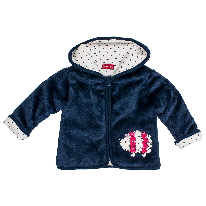 Salt /& Pepper Baby Girls Nb Jacket Happy Pl/üsch