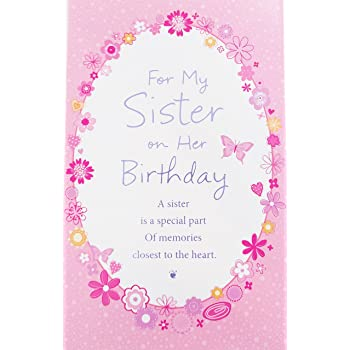 Amazon american greetings glad youre my sister birthday card for my sister on her birthday greeting card a sister is a special part of memories closest to the heart m4hsunfo