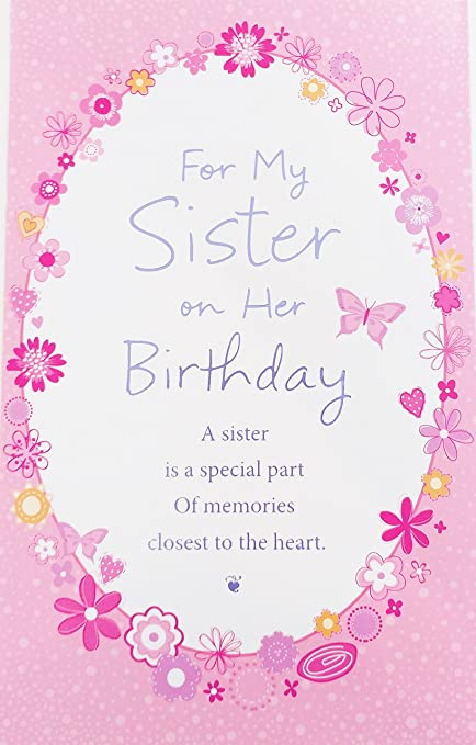 Amazon For My Sister On Her Birthday Greeting Card
