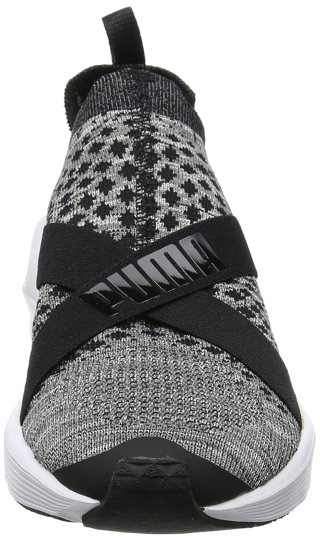 Womens Fierce Evoknit Metallic Fitness Shoes, Oliv/Silber, 7 UK Puma