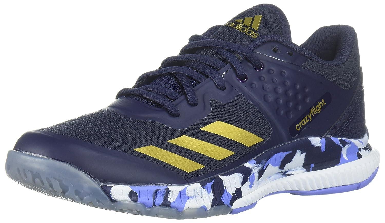 adidas Women's Crazyflight Bounce W Volleyball Shoe B072BWRY59 9 B(M) US|Noble Ink/Metallic Gold/Chalk Purple