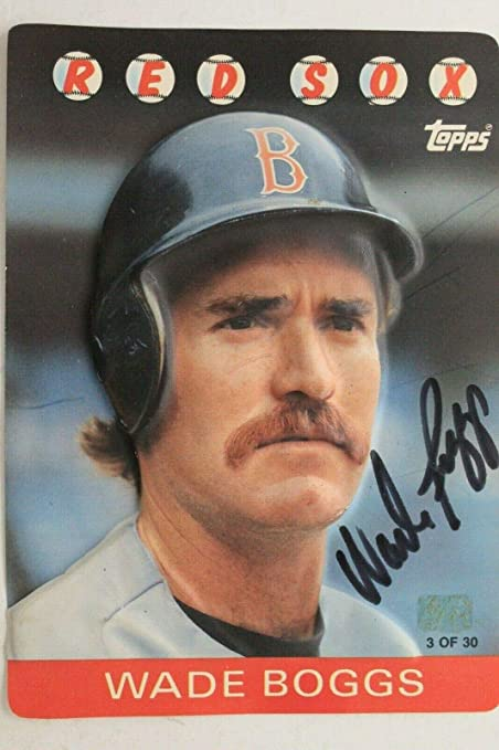 Wade Boggs Boston Red Sox Autographed Signed 1986 Topps 3 D 3 Of 30