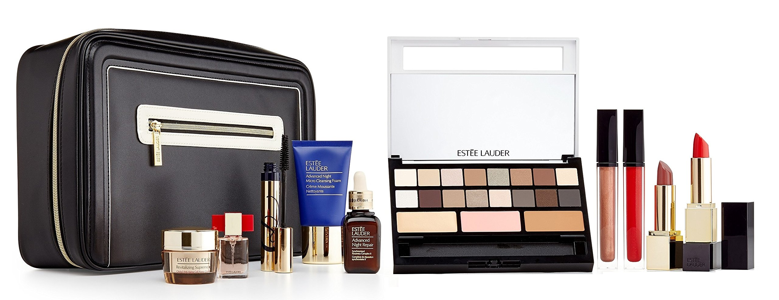amazoncom estee lauder 2016 blockbuster holiday make up gift set wtrain case modern nudes beauty
