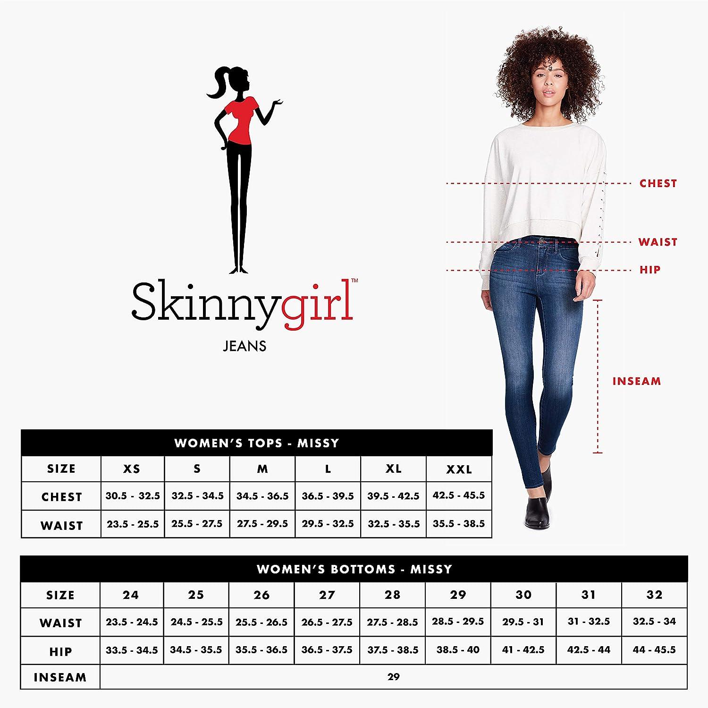 Skinnygirl Womens The Skinny Jean in Injeanious Stretch Denim