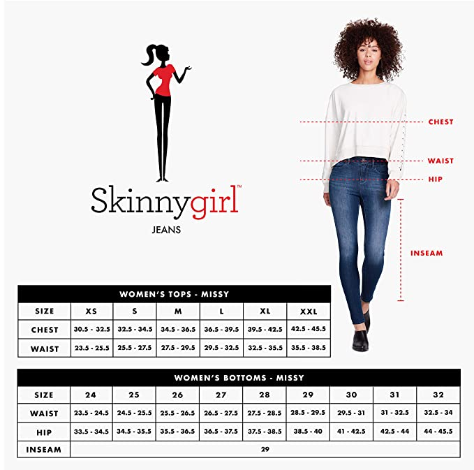 1e5c37e6 Skinnygirl Women's The Skinny Jean in Injeanious Stretch Denim at Amazon  Women's Jeans store