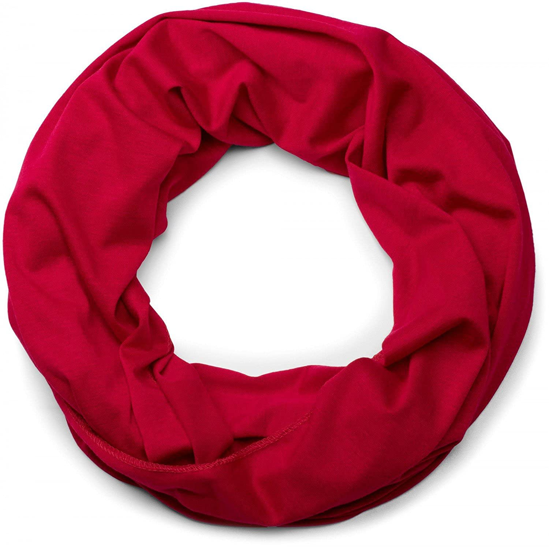 foulard unisex 01016115 styleBREAKER Sciarpa a tubo in jersey in tinta unita sciarpa scaldacollo