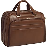 "McKleinUSA  R Series, SPRINGFIELD, Top Grain Cowhide Leather, 15"" Leather Fly-Through Checkpoint-Friendly Laptop Briefcase, One Size, Brown (86594)"