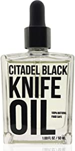 100% Natural Food Grade Knife and Blade Maintenance Oil, 1.69oz by Citadel Black