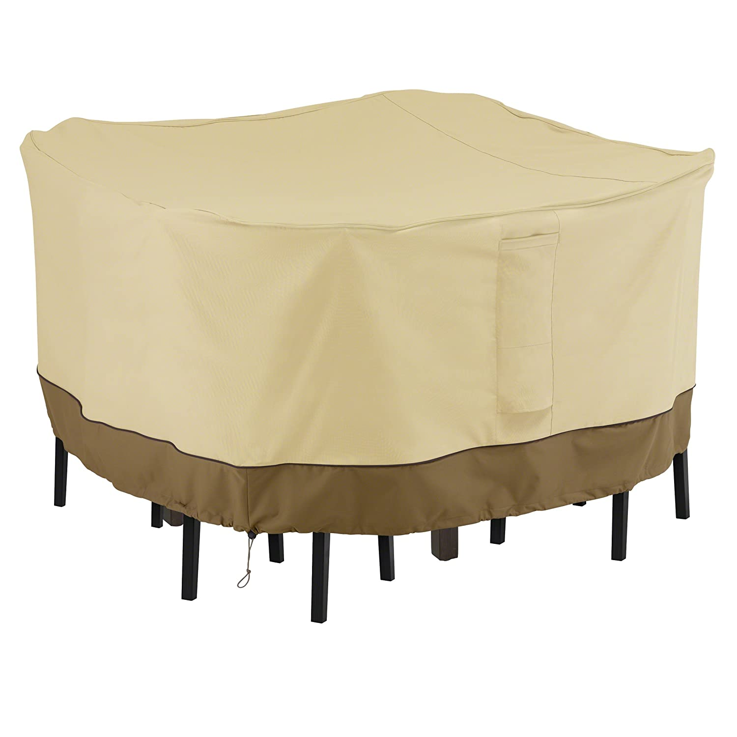 Classic Accessories Veranda Square Bar Height Table Chair Set Cover, Medium