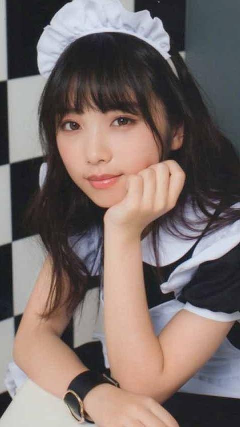 乃木坂46 与田祐希 頬杖をつくメイド ハロウィン2017 XFVGA(480×854)壁紙画像