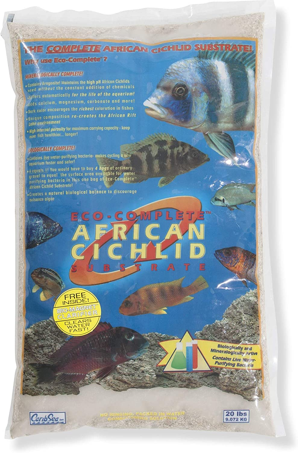 Carib Sea Eco-Complete African Cichlid White Sand Substrate