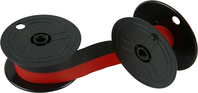 Porelon 11216 Universal Twin Spool Calculator Ribbon, 6-Pack,Black/red