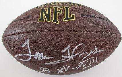 Tom Flores Oakland Raiders signed autographed NFL Football 4f0eda0d1
