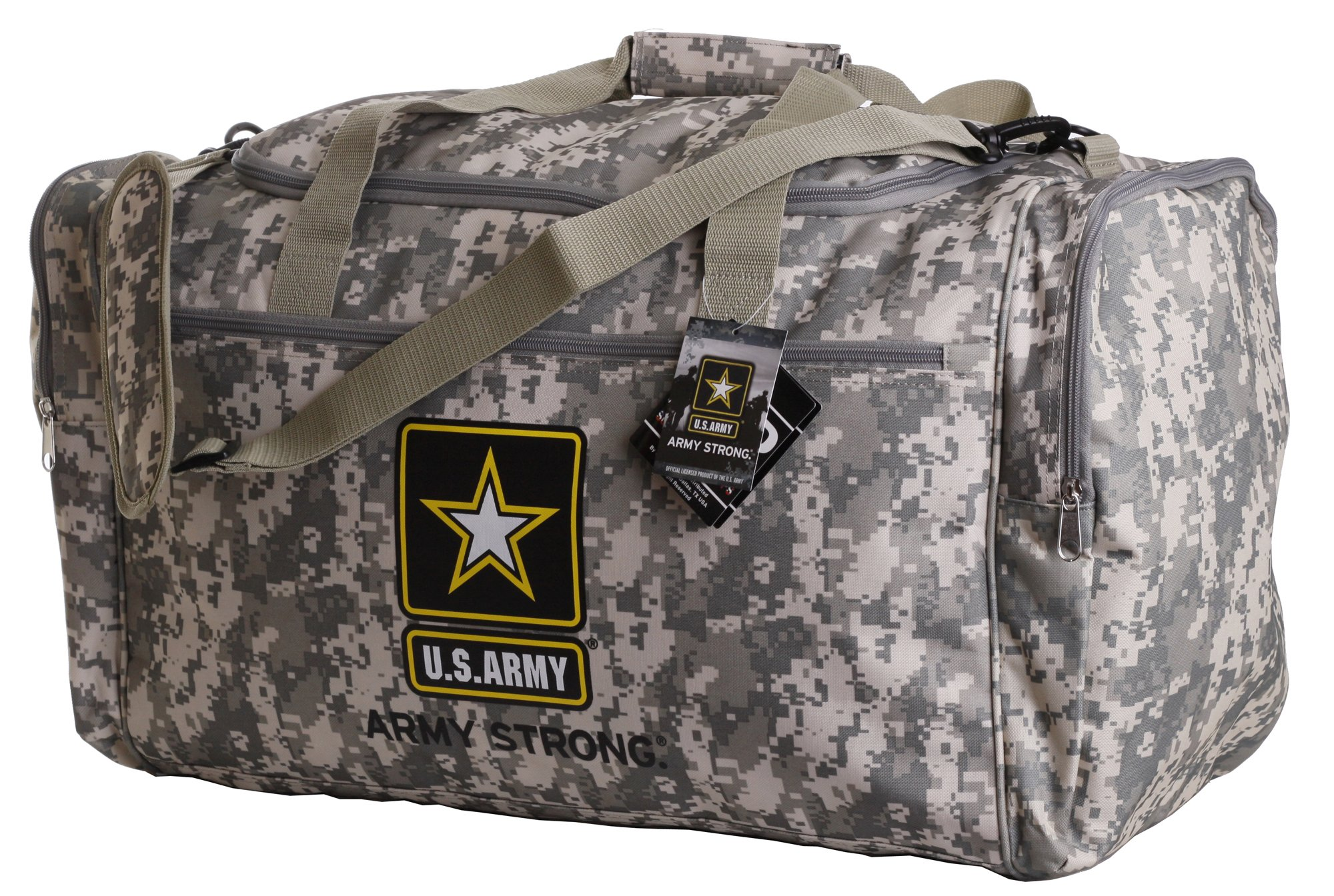 US Army Duffle Bag Luggage Gym Military Official Licensed Camo New