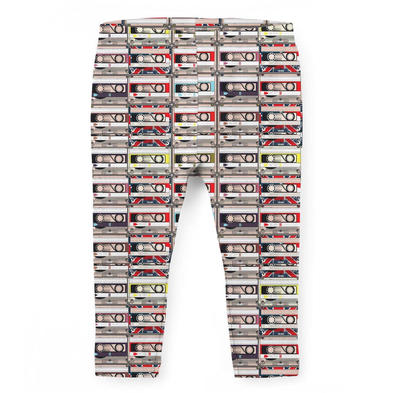 Retro Cassette Tapes Kids Capri Leggings