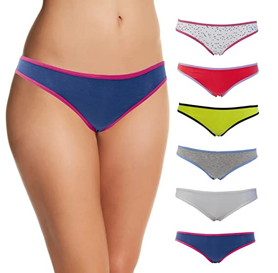 Emprella Cotton Underwear Women, Ropa Interior Femenina, 6 Womens Bikini Ladies Panties at Amazon Womens Clothing store:
