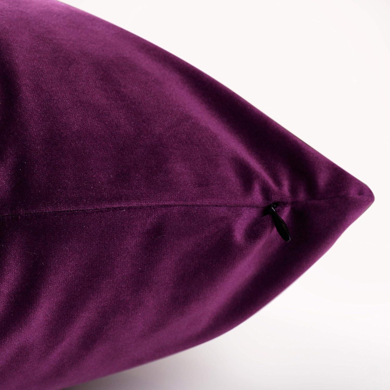 45 x 45 cm, Antracita Taie doreiller pour Lit Mod/èle Velvet Carr/é 45x45 Cm Canap/é PimpamTex Lot De 2 Housses De Coussin D/écoratives en Velours Doux Chaise Ou Chambre /À Coucher