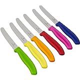 Victorinox - Set da 6 coltelli da cucina colorati, nuova forma del manico