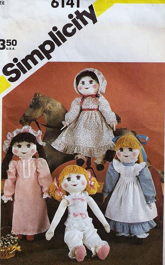 Simplicity Craft Sewing Pattern Baby Toys Dolls Bears Blanket Kids Stuffed Plush