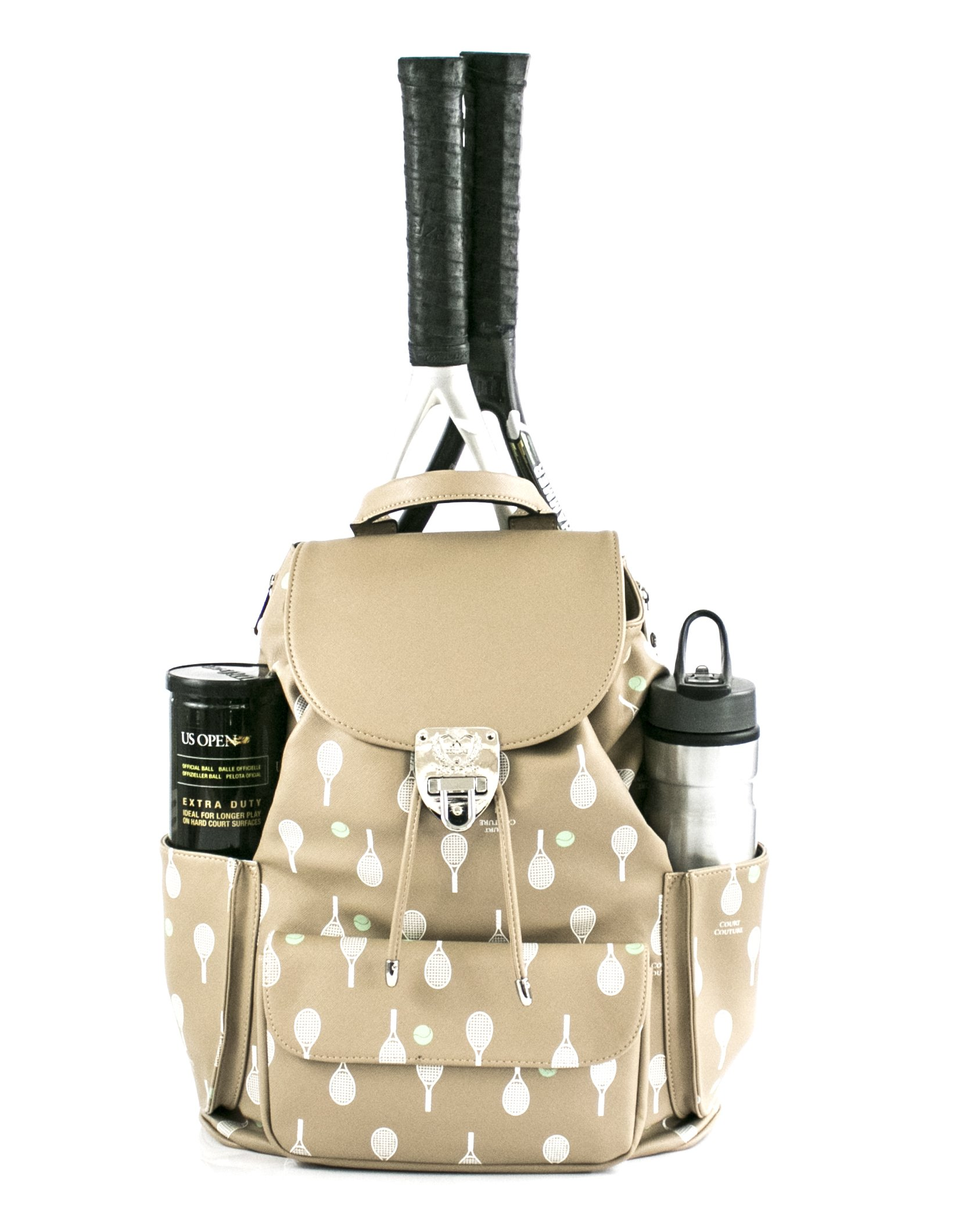 Court Couture Hampton Printed Dafe Au Lait Tennis Backpack