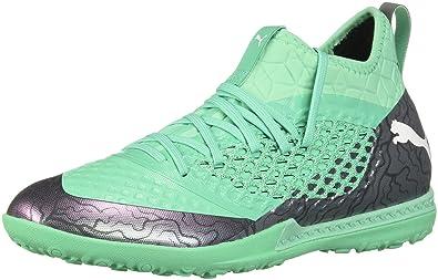pretty nice 63f5b 97104 PUMA Men s Future 2.3 Netfit TT Soccer Shoe, Color Shift-Biscay Green White  Black