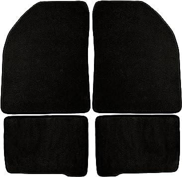 Black Nylon Carpet Coverking Custom Fit Front Floor Mats for Select Dodge RAM Models