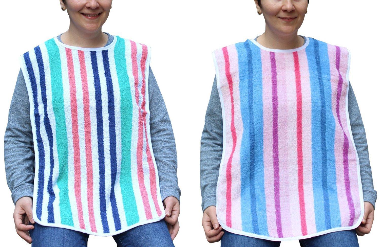 Terry Cloth Adult Bibs 18x34 - 2 Pack