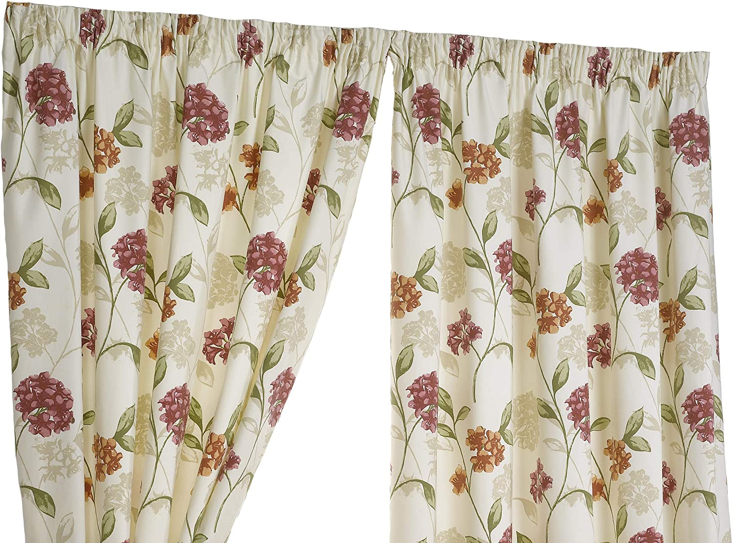 Hamilton McBride Bouquet Pink Fully Lined Readymade Curtain Pair 90x90in(228x228cm)