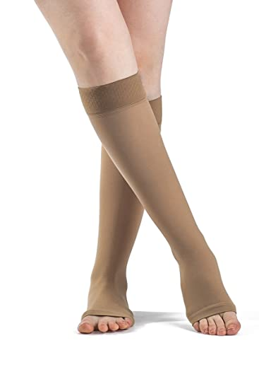 96ff7dbc909 Image Unavailable. Image not available for. Color  SIGVARIS SELECT COMFORT  860 Open-Toe Calf High Compression Hose ...