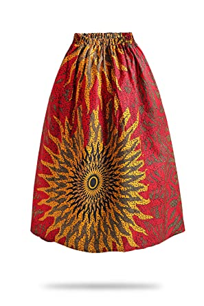 5f47b335509 Amazon.com  FANS FACE Women African Print Traditional Costume High Waist  Maxi Skirt A-Line Long Skirts Plus Size  Clothing