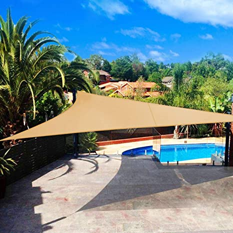 Shade&Beyond - Parasol triangular, bloque UV para patio, césped, pérgola y actividades al aire libre: Amazon.es: Jardín
