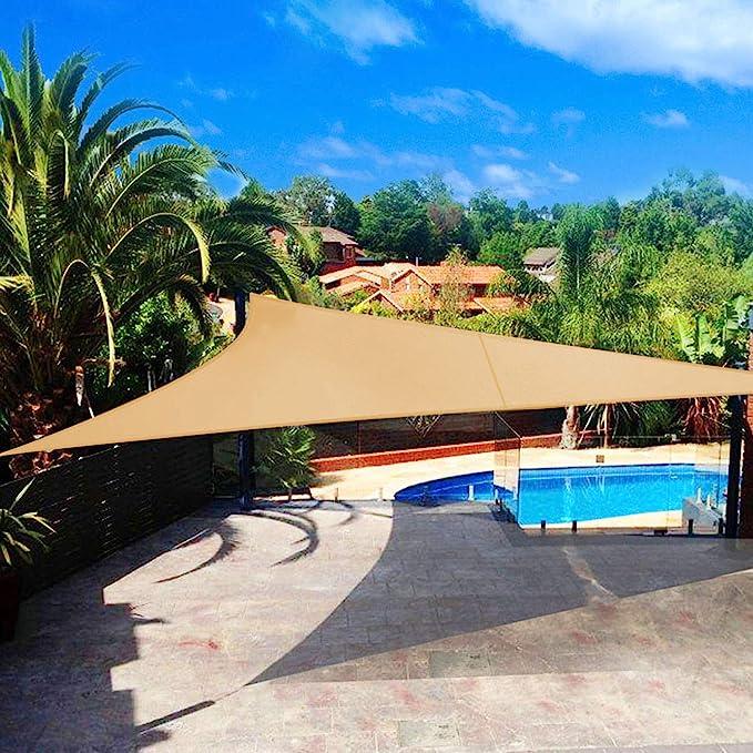 Shade&Beyond - Parasol triangular, bloque UV para patio, césped ...