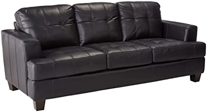 Samuel Leather Sofa Black