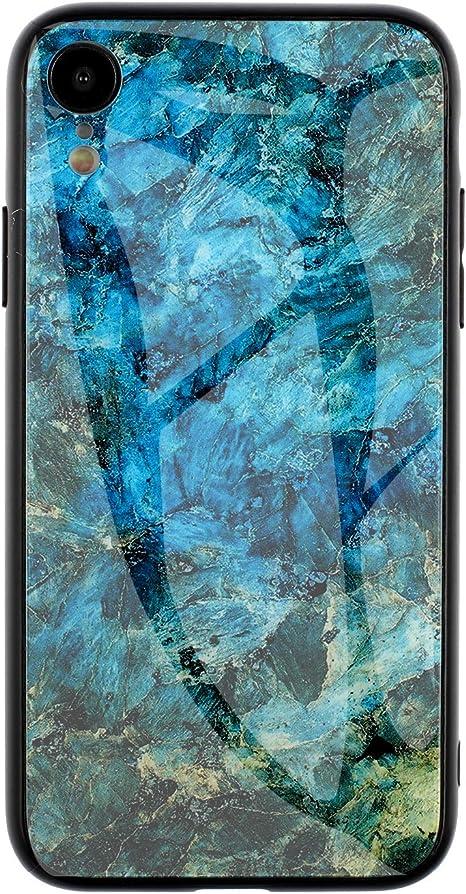 Cover Marmo Vetro Temperato Cristallo Telaio Silicone Case 3D