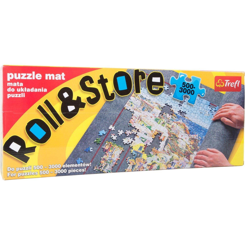 Puzzlematte 500 - 3000 Teile aus weichem Filz, kinderleicht, sicher und schnell samt Puzzle aufgerollt, mit praktischen Markierungen zum Puzzeln, Maße: ca. 125 x 96 cm Maße: ca. 125 x 96 cm Trefl 7868