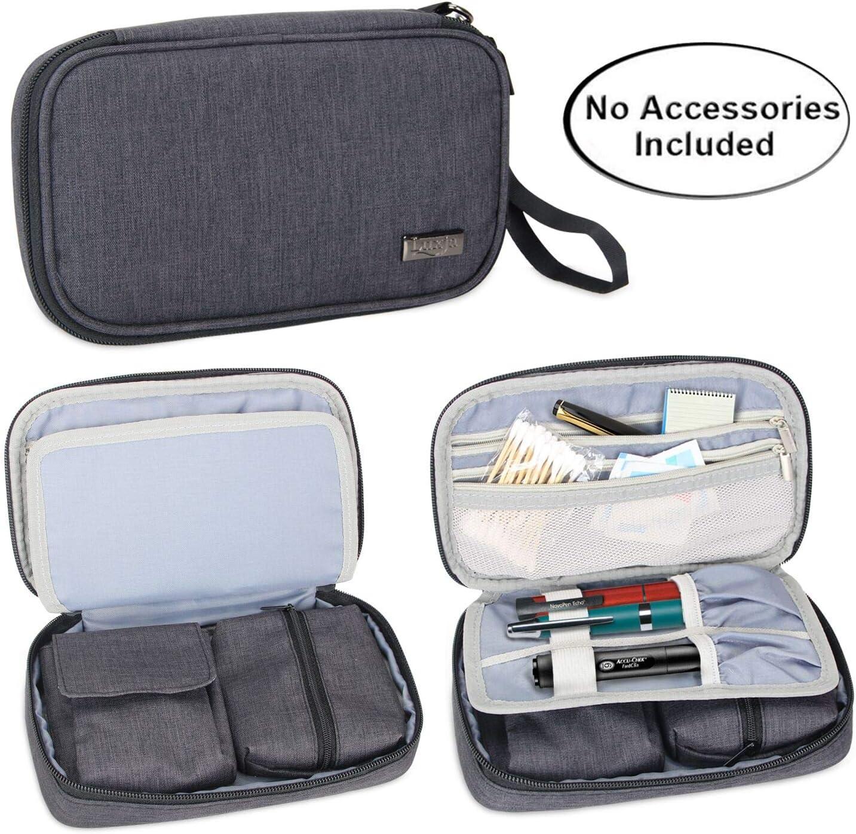 Luxja bolsa para diabetic, Estuche para diabéticos, bolsa de almacenamiento para glucómetro y otros suministros para diabéticos (solo bolsa), Negro