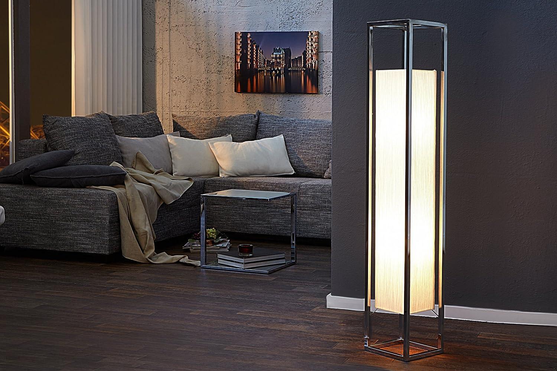 Papierlampe Eckig 120cm Bauhaus Edel Wohnzimmer Stehleuchte Weiss