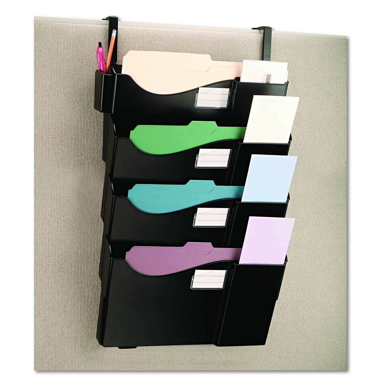 Universal 08138 Grande Central Abheften System, vier Tasche, Partition Mount, Kunststoff, schwarz