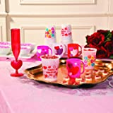 Fun Express Valentine's Day Plastic Disposable Cups (50 pieces) Party Supplies, Favor Cups, holds 16