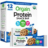 Orgain Organic Plant Based Protein Bar, Chocolate Chip Cookie Dough - Vegan, Gluten Free, Non Dairy, Soy Free, Lactose Free,