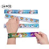Unicorn Metal Slap Bracelets - Birthday Party Favors Supplies/Goodies Bags Fillers/Kids School Prizes