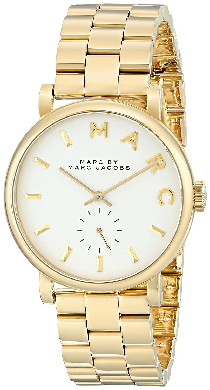 2bf3905d70d8e Amazon.com  Marc by Marc Jacobs Women s MBM3243 Baker Gold-Tone Watch with  Link Bracelet  Marc by Marc Jacobs  Watches
