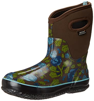 Bogs Women'S Classic Rose Garden Mid Waterproof Winter Boot -