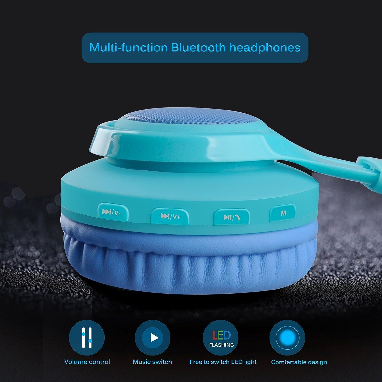 Amazon.com: Riwbox WT-7S Bluetooth Headphones, LED Light Up Wireless ...