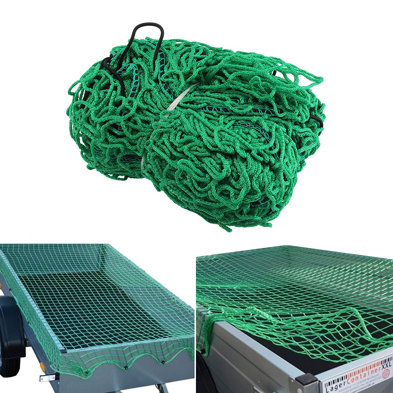 JUEYAN 2 X 3 M Anh/ängernetz Ladungssicherungsnetz Gep/äcknetz zur Ladungssicherung Abdecknetz Containernetz Transportnetz Netz f/ür Anh/änger PKW