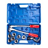 CO-Z 7 Level Professional Aluminum Copper Tube Expander Tool Full Set with Tube Cutter & Deburring Tool, 3/8
