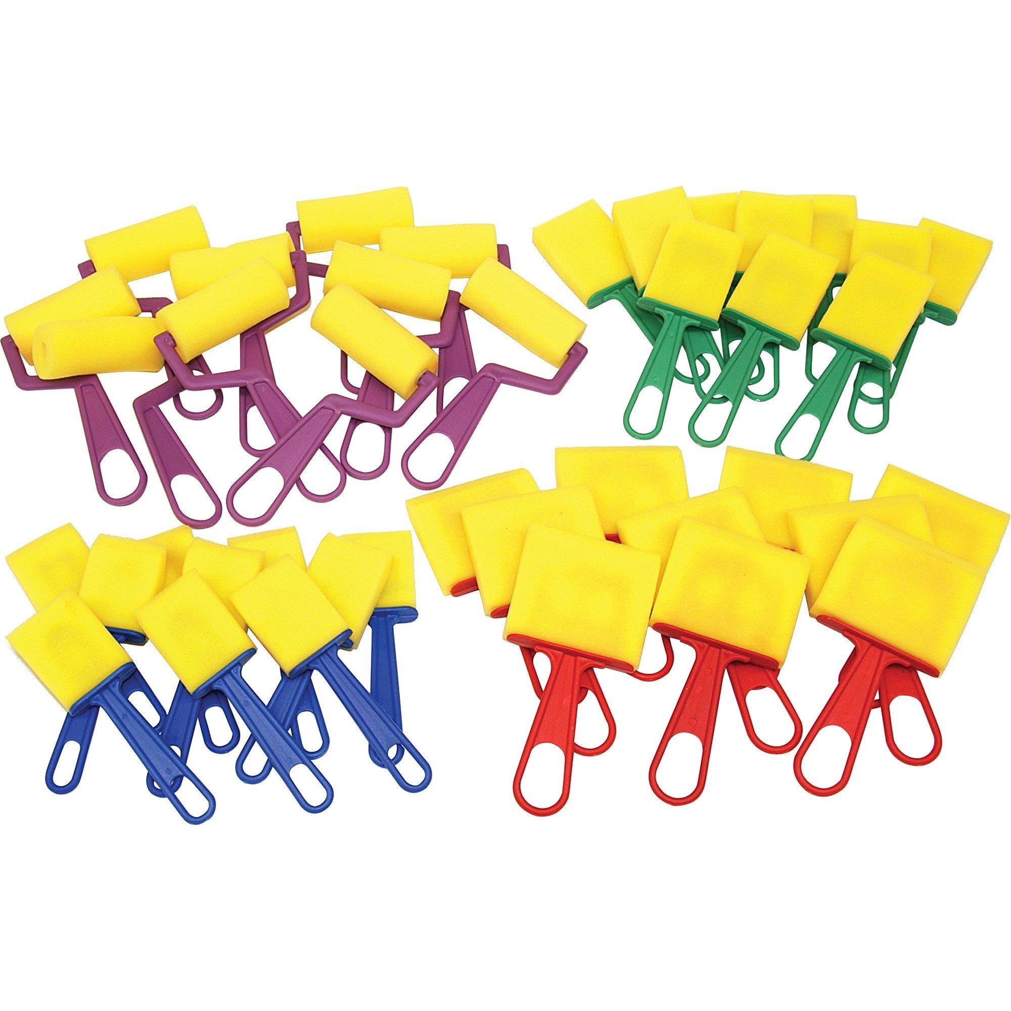 CKC5212 - ChenilleKraft Foam Brushes/Rollers Classroom Pack