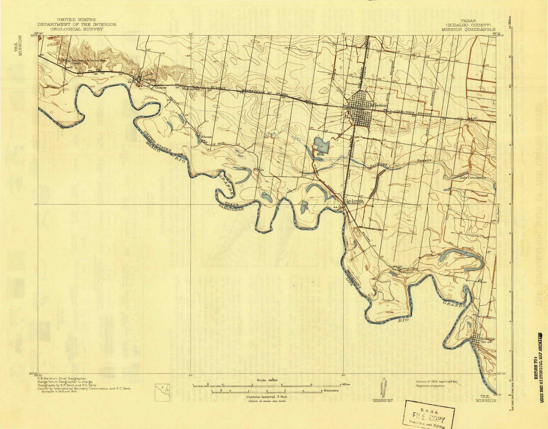 Amazon Com Yellowmaps Mission Tx Topo Map 1 62500 Scale 15 X 15